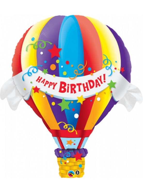 Balão Metalizado Happy Birthday Balão – 1 unidade