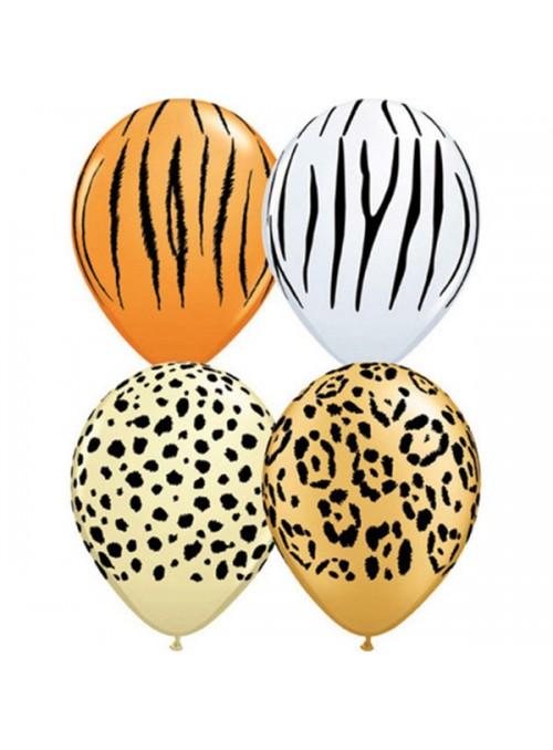 Balões De Látex Safari Grande - 10 Unidades