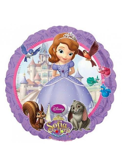 Balão Metalizado Redondo Princesa Sofia - 1 Unidade