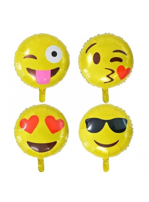 Balões Metalizados Emojis - 5 Unidades