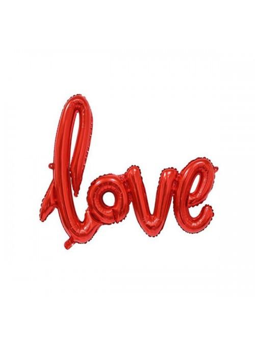 Balão Metalizado Love Vermelho - 1 Unidade