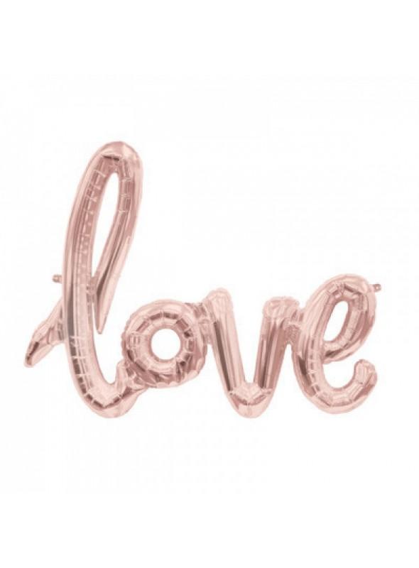 Balão Metalizado Love Rose - 1 Unidade
