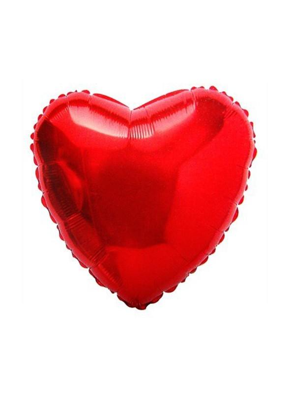 Balões Metalizados Coração Vermelho - 10 Unidades