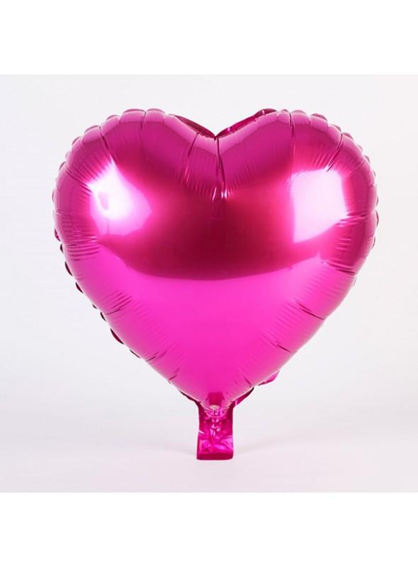 Balões Metalizados Coração Pink Tamanho P - 5 Unidades