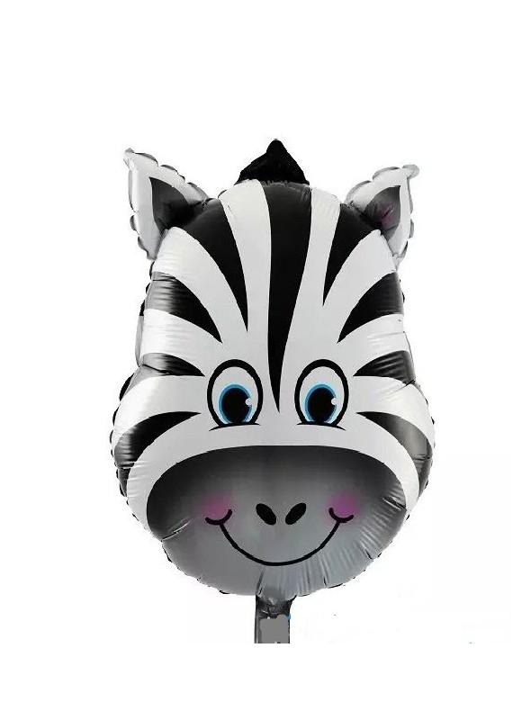 Balões Metalizados Zebra Tamanho P - 5 Unidades