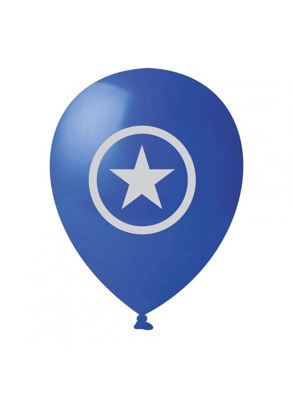 Balões de Látex Capitão América - 25 Unidades