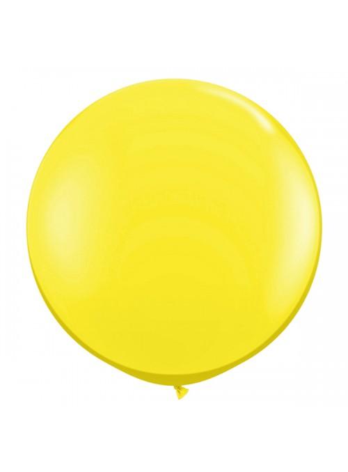 Balão de Látex Gigante Amarelo 25 polegadas – 1 unidade