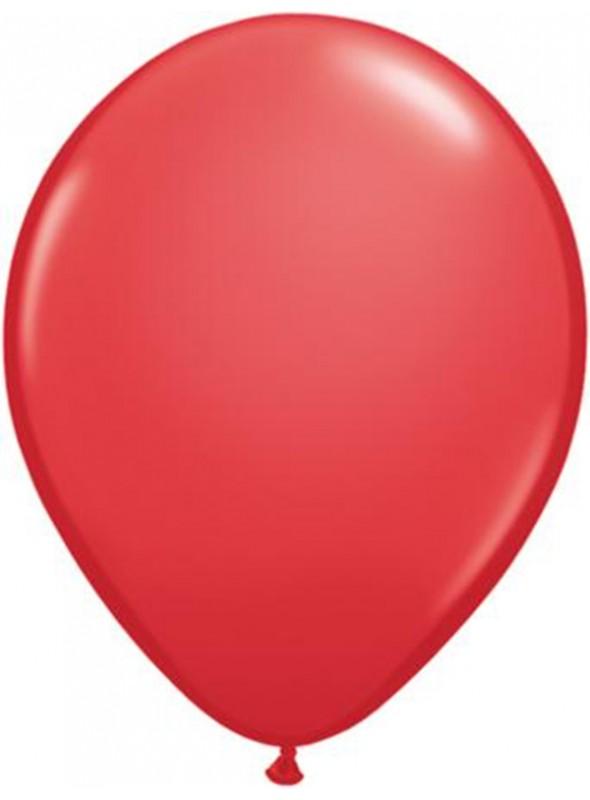Balões De Látex Vermelho 7 polegadas – 50 unidades