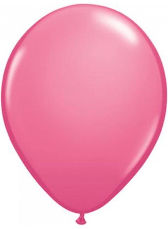 Balões De Látex Rosa Forte 7 polegadas – 50 unidades