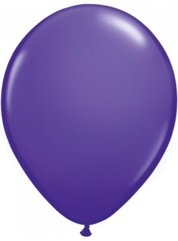 Balões De Látex Roxo Violeta 7 polegadas – 50 unidades