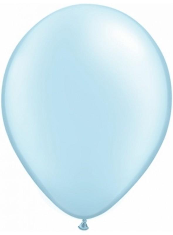 Balões De Látex Azul Claro 7 polegadas – 50 unidades
