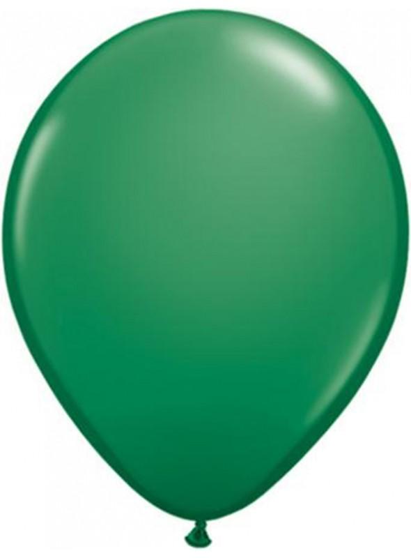 Balões De Látex Verde Escuro 7 polegadas – 50 unidades