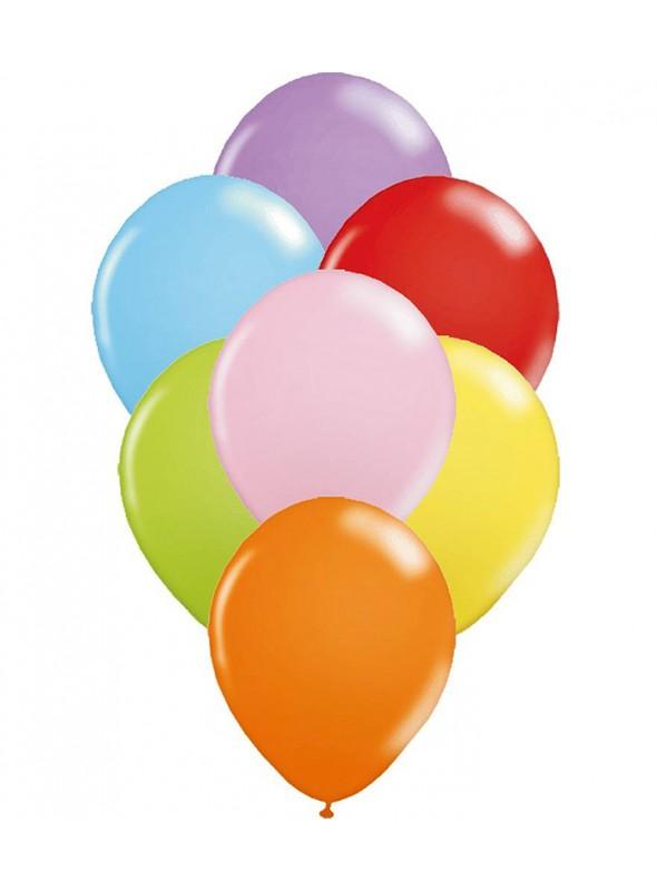 Balões De Látex Cores Sortidas 7 polegadas – 50 unidades