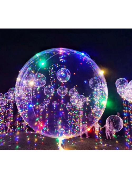 Balão Transparente com Led - 1 unidade