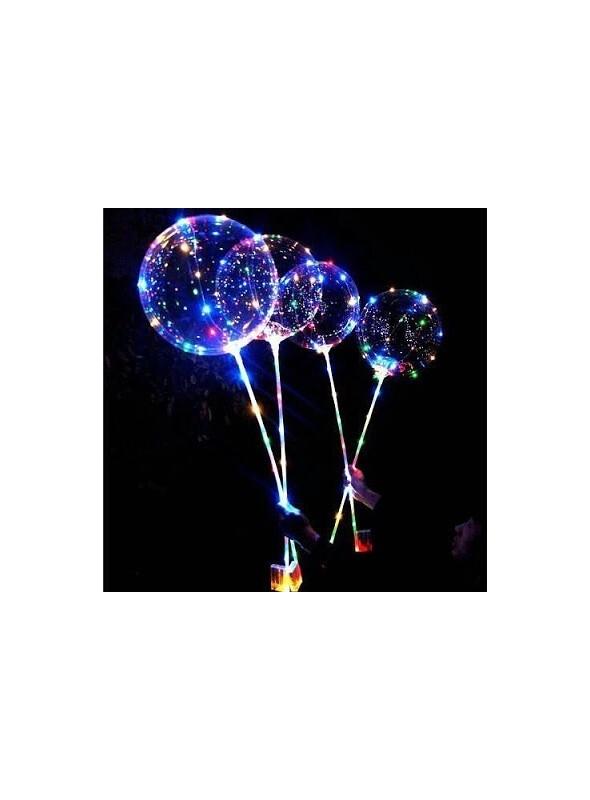 Balão Transparente com Led na Vareta