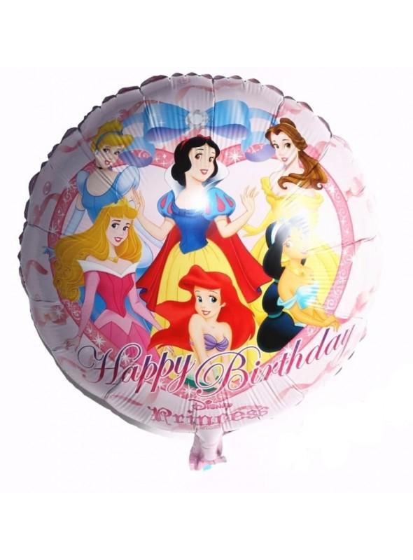 Balão Metalizado Princesas - 1 Unidade