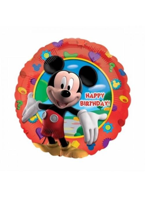 Balão Metalizado Redondo Mickey - 1 Unidade