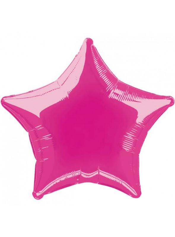 Balões Metalizados Estrela Rosa Pink - 10 unidades