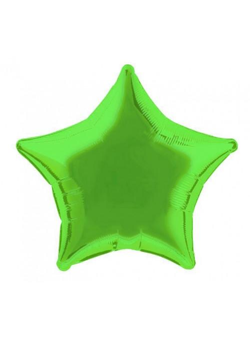 Balões Metalizados Estrela Verde – 10 unidades