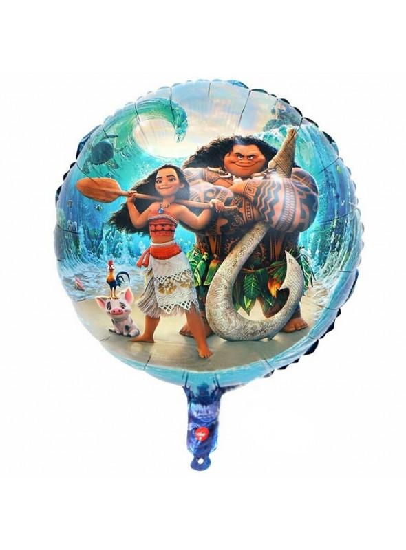 Balão Metalizado Moana e Maui - 1 Unidade