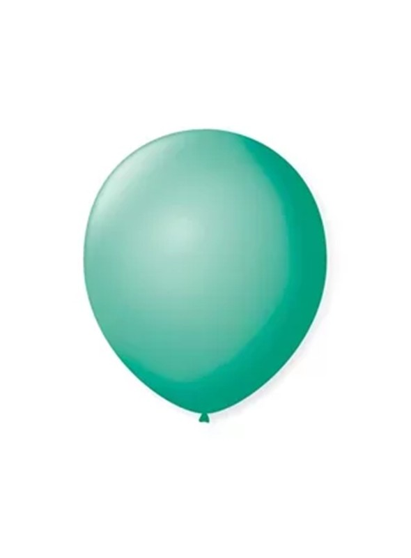 Balões de Látex Azul Tiffany 9 Polegadas – 50 unidades