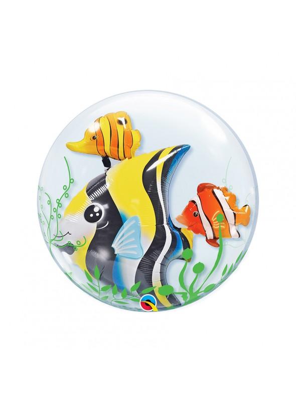 Balão Bubble Duplo Peixes – 1 unidade