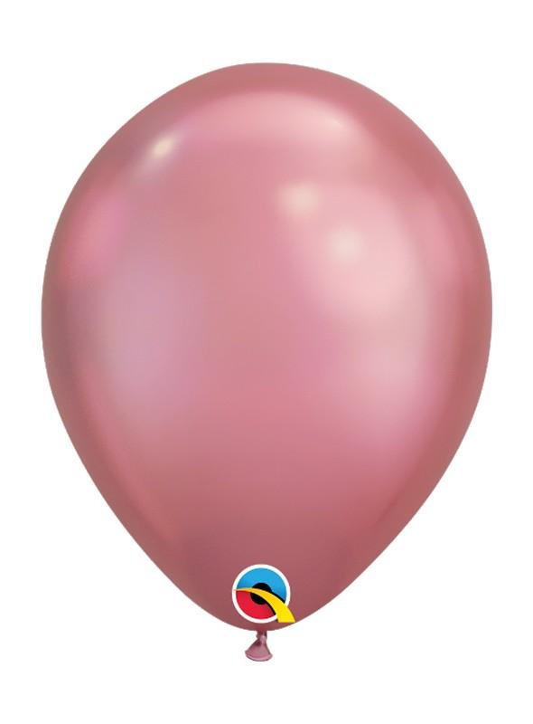 Balões de Látex Rosa Chrome - 5 unidades