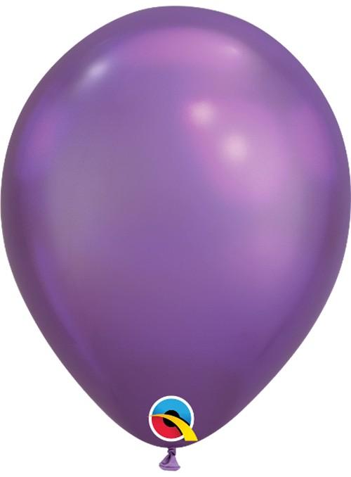 Balões de Látex Roxo Chrome - 5 unidades