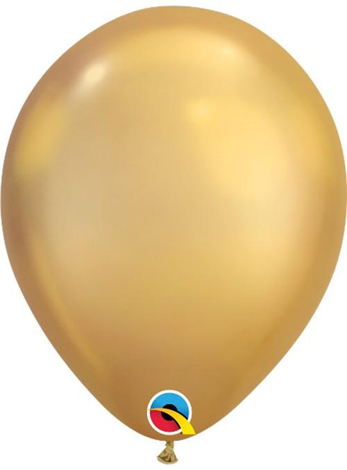Balões de Látex Ouro Chrome - 5 unidades