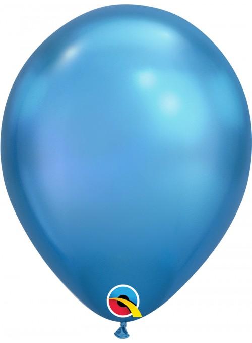 Balões de Látex Azul Chrome - 5 unidades