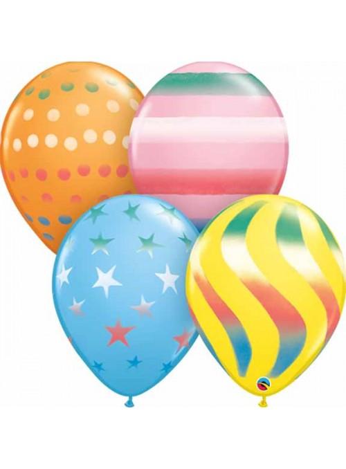 Balões de Látex Sprays Sortidos – 10 unidades