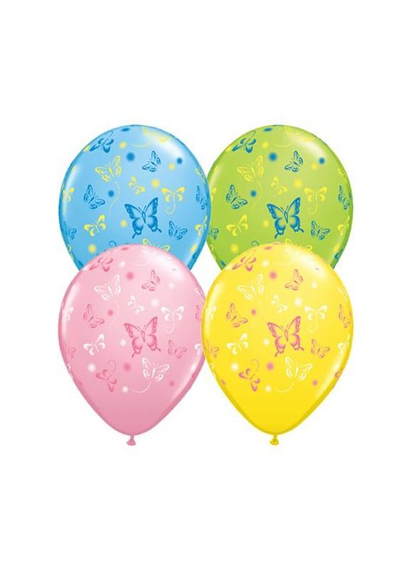 Balões de Látex Borboletas – 10 unidades