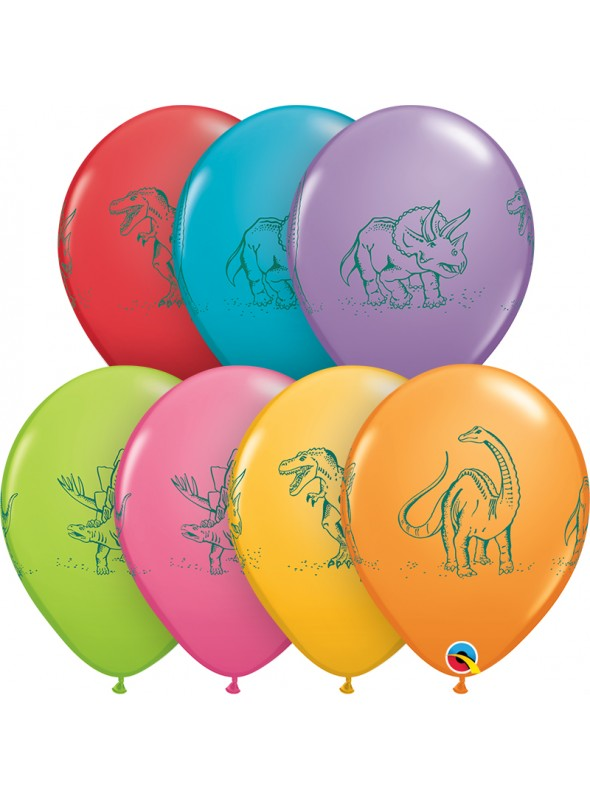 Balões de Látex Dinossauros em Ação – 10 unidades
