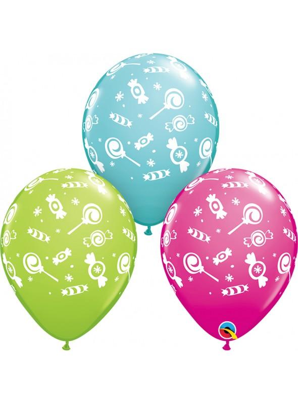 Balões de Látex Doces Sortidos – 10 unidades