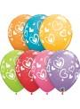 Balões de Látex Corações Sortidos – 10 unidades
