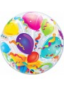 Balão Bubble Bolha Transparente Happy Birthday Presentes – 1 unidade