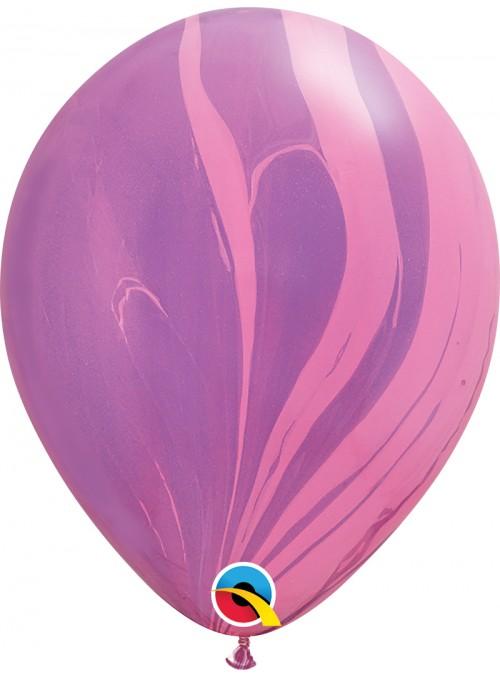 Balões de Látex Marmorizado Pink e Violeta – 5 unidades