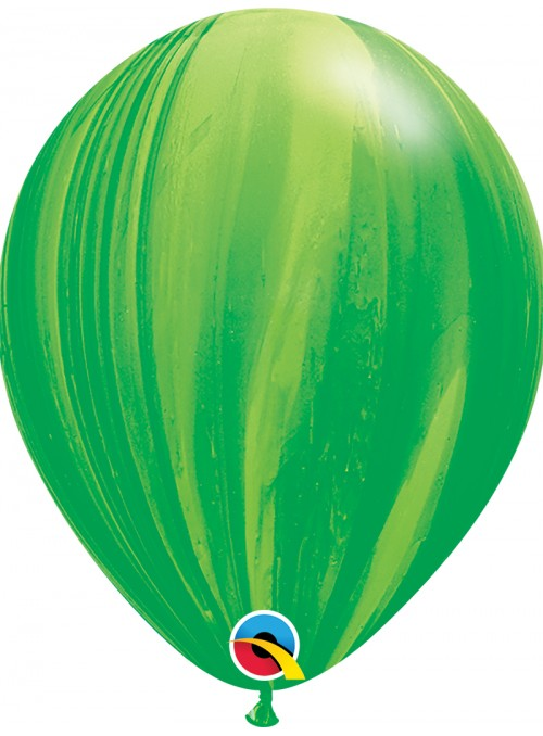 Balões de Látex Marmorizado Verde – 5 unidades