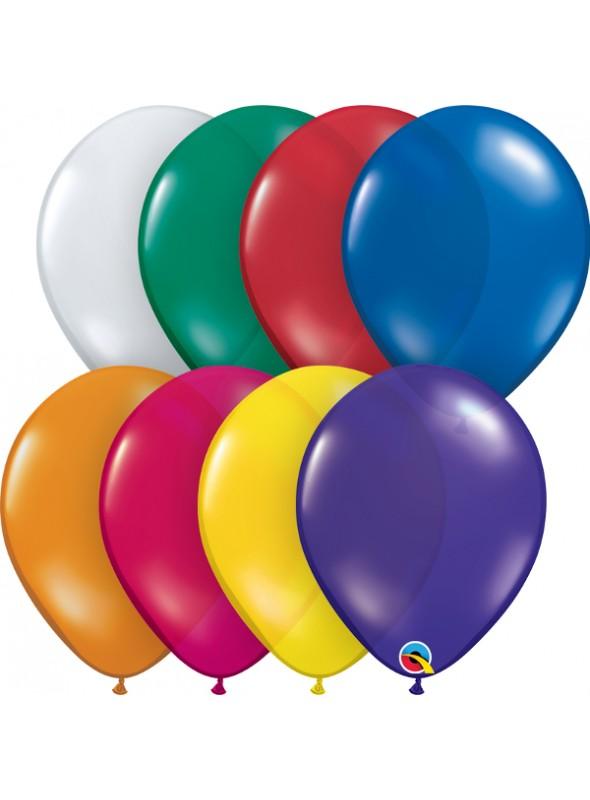 Balões de Látex Cores Sortidas Jewel 11 Polegadas – 10 unidades
