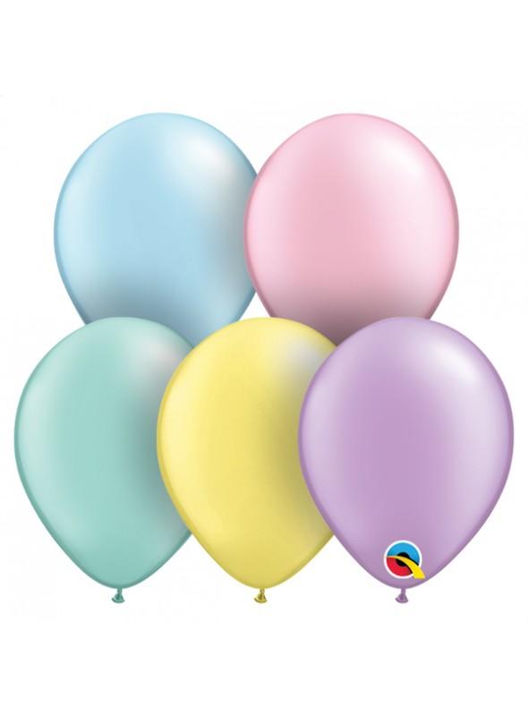Balões de Látex Cores Pastel 11 Polegadas – 10 unidades