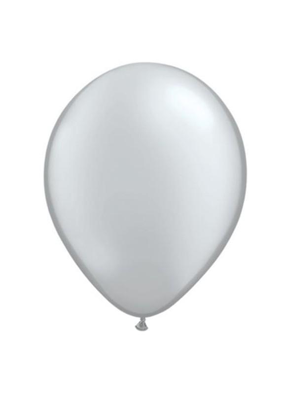 Balões de Látex Prata 11 Polegadas – 10 unidades