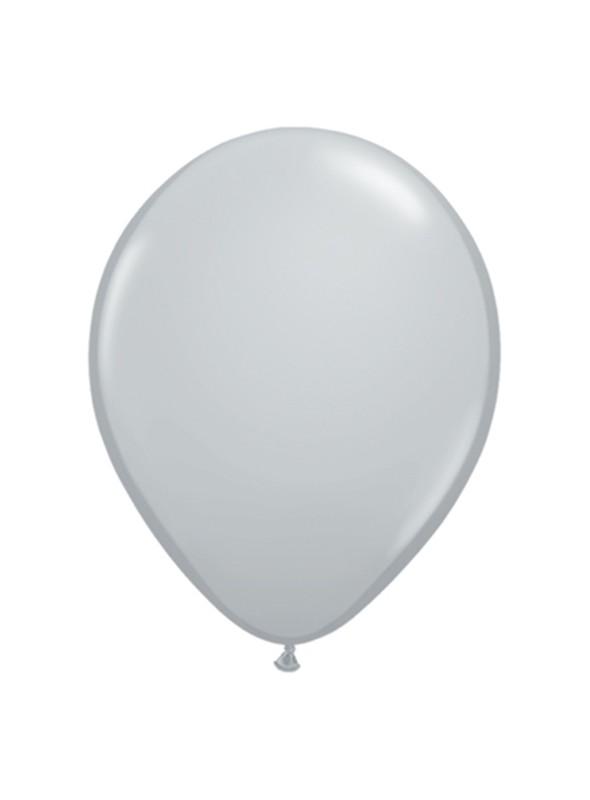 Balões de Látex Cinza 11 Polegadas – 10 unidades