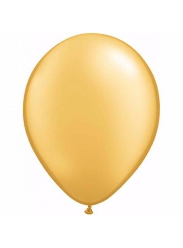 Balões de Látex Ouro 11 Polegadas – 10 unidades