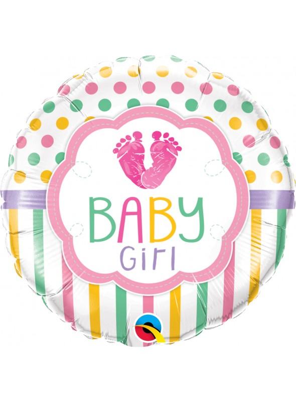 Balão Metalizado Redondo Baby Rosa – 1 unidade