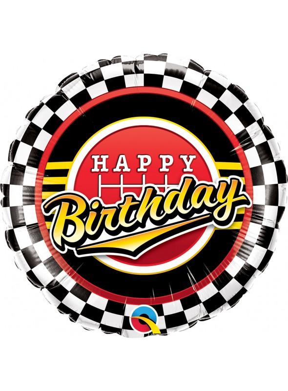 Balão Metalizado Happy Birthday Carros – 1 unidade