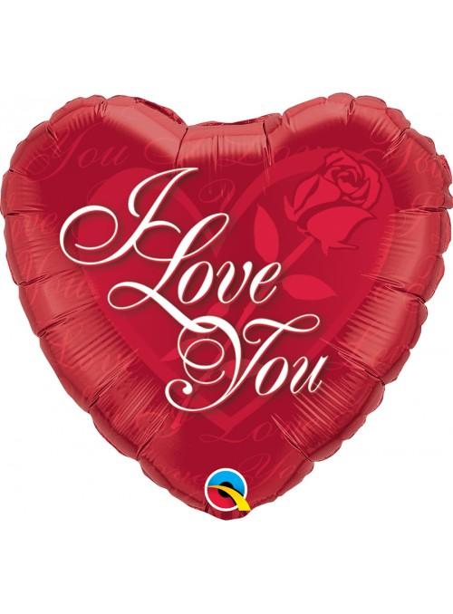 Balão Metalizado Coração I Love You – 1 unidade
