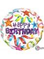 Balão Metalizado Happy Birthday Divertido – 1 unidade