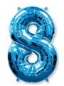 Balão Metalizado Azul Número 8 – 1 unidade