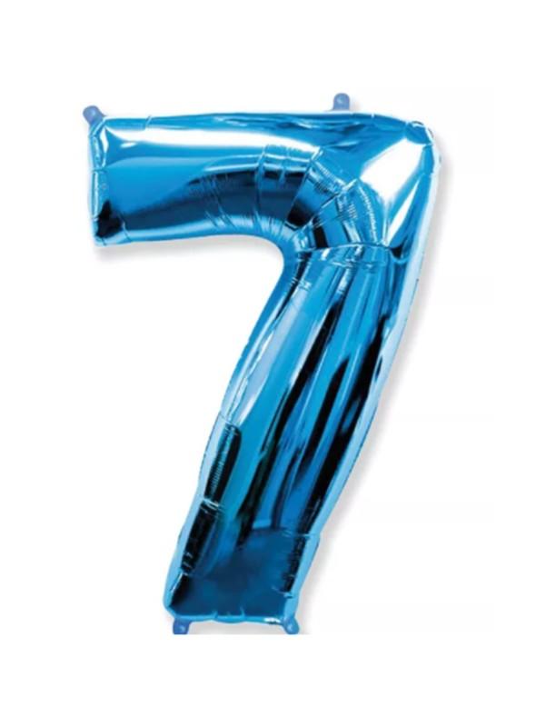 Balão Metalizado Azul Número 7 – 1 unidade